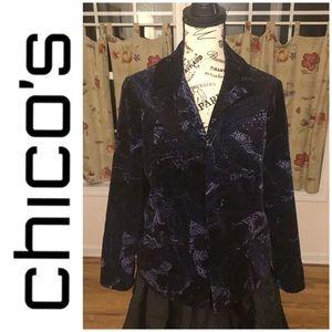 Chico's Velvet Blazer Size Medium